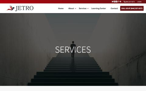 Screenshot of Services Page jetrotax.com - Brookfield based JETRO & Associates tax and accounting services - captured Nov. 21, 2017