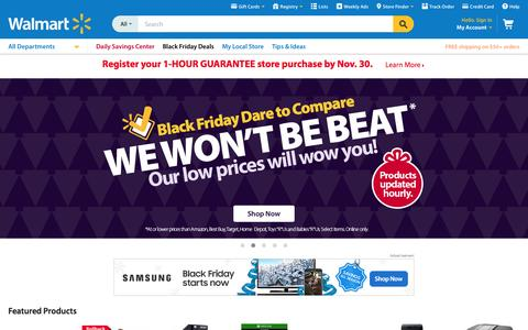Screenshot of Home Page walmart.com - Walmart.com: Save money. Live better. - captured Nov. 27, 2015
