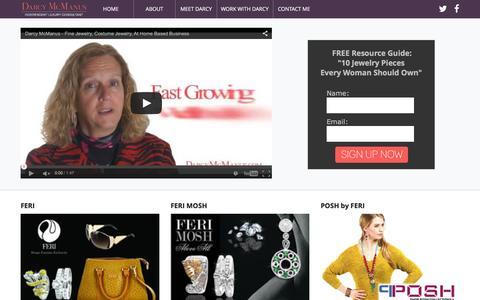 Screenshot of Home Page darcymcmanus.com - Darcy McManus - Independent Luxury Consultant - captured Feb. 8, 2016
