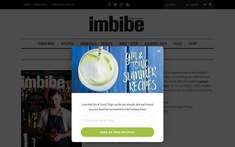 Screenshot of About Page imbibemagazine.com - About Imbibe - Imbibe Magazine - captured July 13, 2018