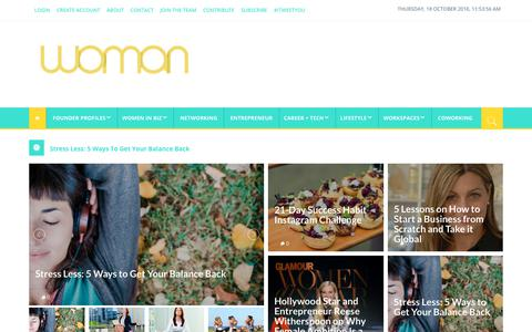 Screenshot of Home Page woman.com.au - Home - Woman.com.au - captured Oct. 18, 2018