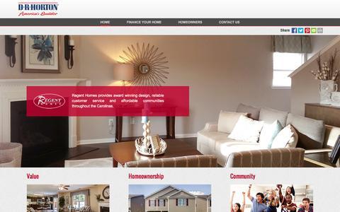 Screenshot of drhorton.com - Regent Homes | Family-Friendly Communities Across the Carolinas' - captured Dec. 9, 2016