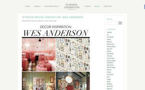 Screenshot of Blog summerthorntondesign.com - Interior Design Blog   Inspiration   Summer Thornton Design - captured Jan. 12, 2016