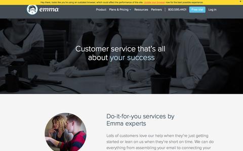 Screenshot of Services Page myemma.com - Email Marketing Concierge Services - Email Marketing Services   Emma, Inc. - captured Nov. 17, 2015