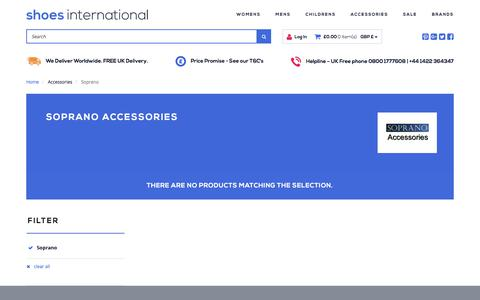 Screenshot of shoesinternational.co.uk - Accessories | Shoes International - captured Aug. 25, 2017