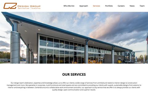Screenshot of Services Page c2-designgroup.com - C2 Architecture | Services - captured July 6, 2018