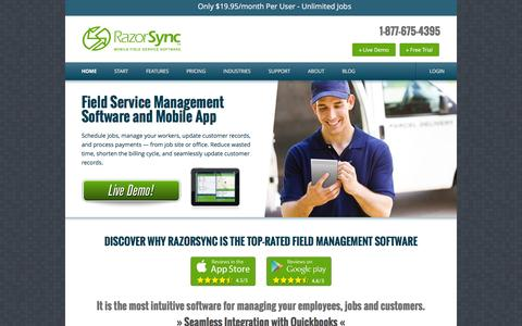 RazorSync: Field Service Software & Mobile App
