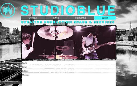 Screenshot of Contact Page thestudioblue.com - STUDIO BLUE | CONTACT - captured Nov. 10, 2017