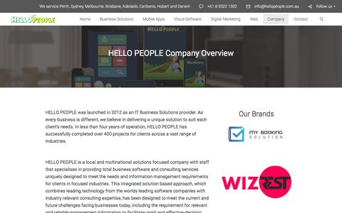 Screenshot of About Page hellopeople.com.au - Mobile Apps and Web Development Specialist - captured May 12, 2017