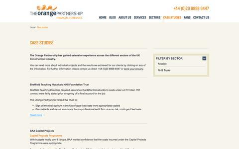 Screenshot of Case Studies Page topff.co.uk - Case Studies - The Orange Partnership - captured Oct. 6, 2014