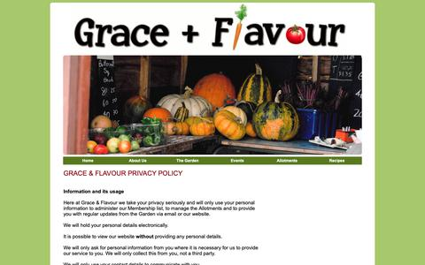 Screenshot of Privacy Page graceandflavour.org - Grace & Flavour - Contact Us - captured Sept. 30, 2018