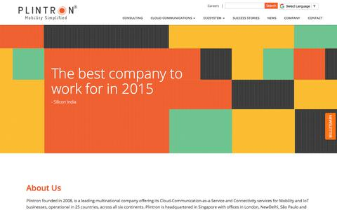 Screenshot of Jobs Page plintron.com - Career in Plintron – Jobs in Plintron –Plintron Jobs – Job Openings in Plintron - captured July 19, 2018