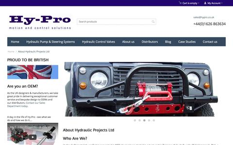 Screenshot of About Page hypro.co.uk - About Hy-Pro & Our Marine Accessory Range | Hy-Pro - captured Nov. 15, 2016
