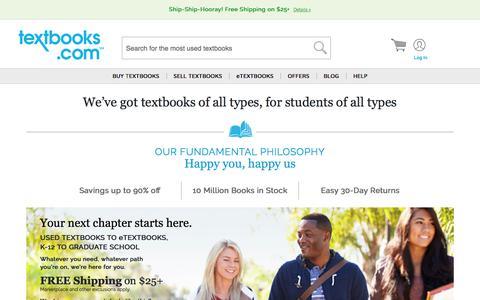Screenshot of Home Page textbooks.com - Textbooks | Used Textbooks | Cheap Textbooks at Textbooks.com - captured Oct. 22, 2017