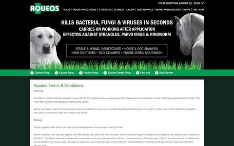 Screenshot of Terms Page aqueos.co.uk - Aqueos Terms & Conditions - captured Feb. 6, 2016