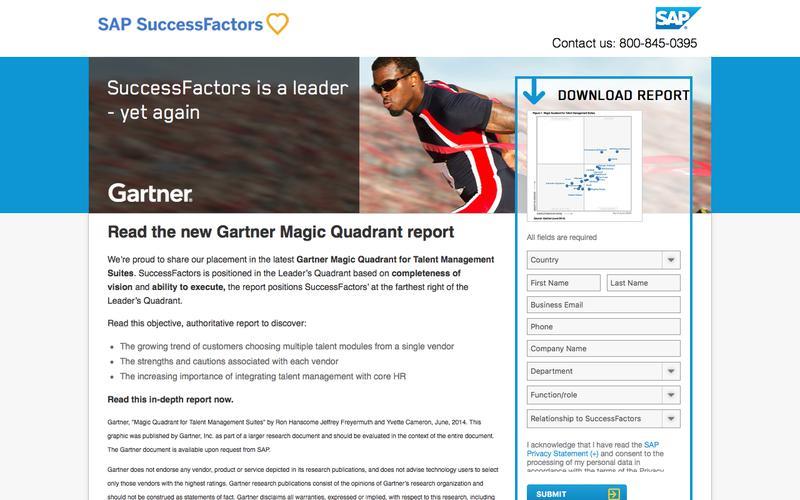 2014 Gartner Magic Quadrant             | SuccessFactors