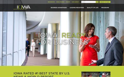 Screenshot of Home Page iowaeconomicdevelopment.com - Iowa Economic Development Authority - Iowa Economic Development Authority - captured Oct. 12, 2018