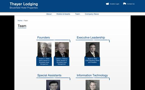 Screenshot of Team Page thayerlodging.com - Asset Management Team - Hotel Investment Company | Thayer Corporate Site - captured Nov. 5, 2014