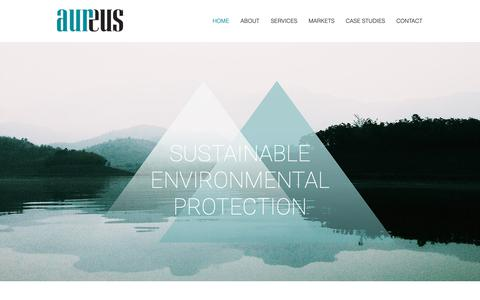 Screenshot of Home Page aursi.ca - Environmental Management & Compliance | Aureus | North America - captured Oct. 4, 2018