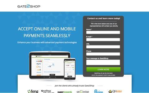 Screenshot of Landing Page g2s.com - Payment Processing for Digital Service Vendors - captured Oct. 27, 2014
