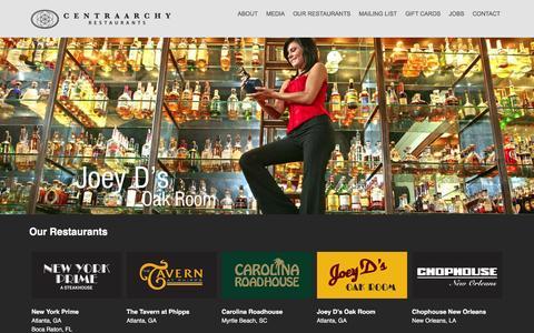 Screenshot of Home Page centraarchy.com - CentraArchy | Restaurant Management Company - captured Dec. 11, 2015