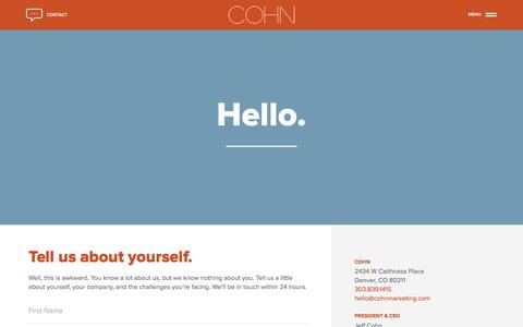 Contact - COHN Marketing