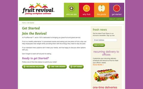 Screenshot of Signup Page fruitrevival.com - Get Started - FruitRevival™ - captured Oct. 6, 2014