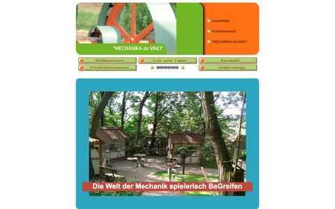 Screenshot of Home Page mechanica-da-vinci.de - Willkommen - captured June 8, 2016