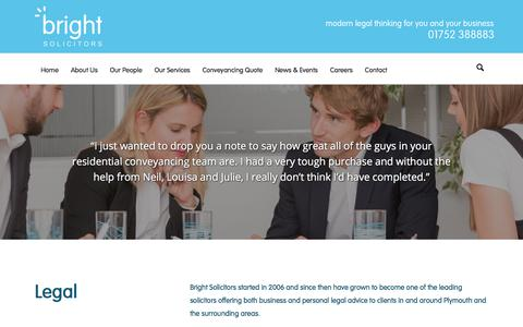 Screenshot of Privacy Page brightllp.co.uk - Privacy Policy | Bright Solicitors | Plymouth Commercial Law Firm - captured Oct. 11, 2017