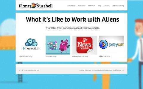Screenshot of Case Studies Page planetnutshell.com - Planet Nutshell Case Studies - Planet Nutshell - captured Oct. 2, 2014