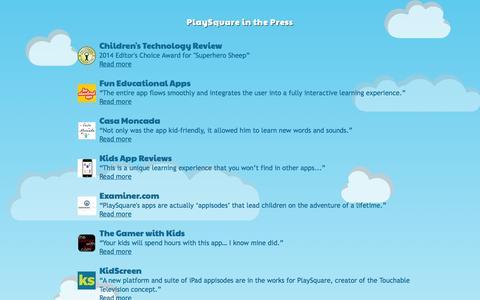 Screenshot of Press Page playsquare.tv - PlaySquare - captured Sept. 13, 2014
