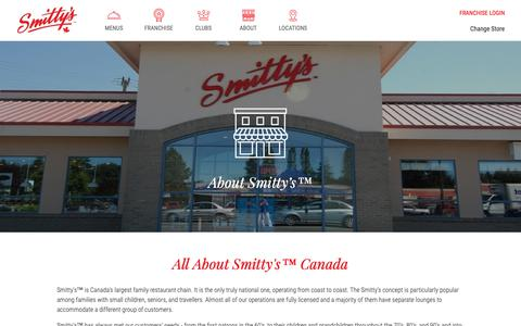 Screenshot of About Page smittys.ca - About - captured Oct. 20, 2018