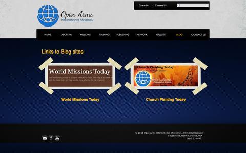 Screenshot of Blog oaim.net - BLOG - Open Arms International Ministries - captured Oct. 9, 2014