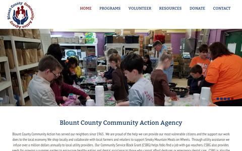 Screenshot of Home Page blountcaa.org - Blount County Community Action Agency - captured Nov. 13, 2018