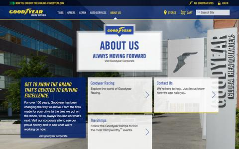 Screenshot of About Page goodyear.com - About Goodyear | Goodyear Tires - captured March 29, 2016
