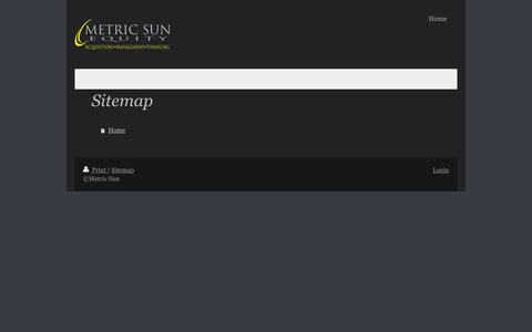 Screenshot of Site Map Page metricsun.com - Metric Sun - Home - captured Feb. 13, 2016