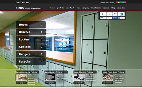 Screenshot of Home Page ajbinns.com - Homepage - captured Oct. 4, 2014