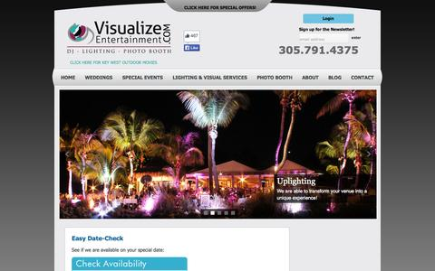 Screenshot of Contact Page visualize-entertainment.com - Contact | Visualize Entertainment, Inc. DJ-Lighting-Photo Booth servicing Key West, Islamorada, & Key Largo!Visualize Entertainment, Inc. DJ-Lighting-Photo Booth servicing Key West, Islamorada, & Key Largo! - captured Oct. 9, 2014
