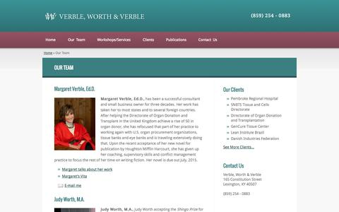 Screenshot of Team Page verbleworthverble.com - Our Team Archive - Verble Worth & Verble - captured Oct. 26, 2014