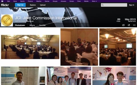 Screenshot of Flickr Page flickr.com - Flickr: Joint Commission International's Photostream - captured Nov. 1, 2014