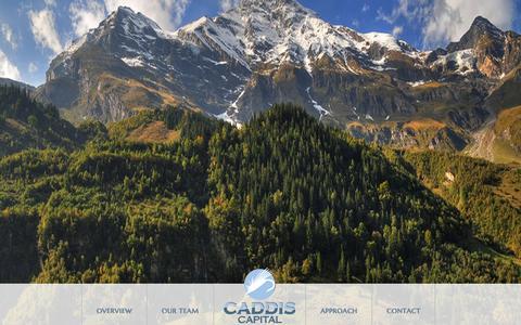 Screenshot of Home Page caddiscapitalinvestments.com - Caddis Capital Investments - captured Sept. 26, 2014