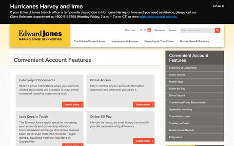 Convenient Account Features | Edward Jones