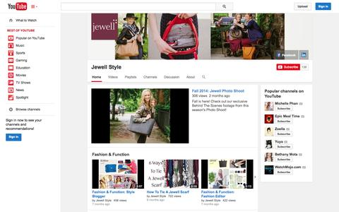 Screenshot of YouTube Page youtube.com - Jewell Style  - YouTube - captured Oct. 22, 2014