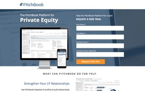 Screenshot of Landing Page pitchbook.com captured Oct. 31, 2016