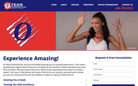 Screenshot of Services Page teamorthodontics.com - Services - Team Orthodontics - captured Jan. 12, 2016