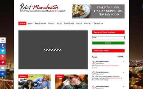 Screenshot of Home Page pocketmanchester.com - Pocket Manchester - captured June 18, 2015