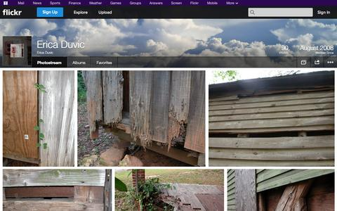 Screenshot of Flickr Page flickr.com - Flickr: Erica Duvic's Photostream - captured Oct. 22, 2014