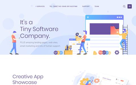 Screenshot of Home Page cuttypowers.com - Cutty Powers – A Little Software Company with Gentle, Human Support - captured Feb. 13, 2019
