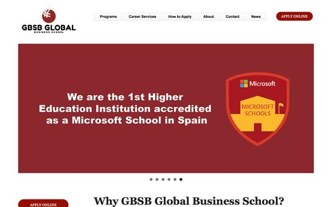 Screenshot of Home Page global-business-school.org - GBSB Global Business School. International Business School in Barcelona Spain - captured Aug. 6, 2017