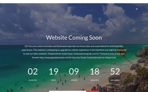 Screenshot of Home Page ezy-go.com - Coming Soon - EZY-Go Meet Up and Inspire Your Daily Experiences. - captured July 12, 2017
